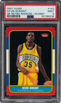 Basketball Cards:Singles (1980-Now), 2007 Fleer Kevin Durant ('86 Retro Rookies-Glossy) #143 PS...