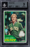 Basketball Cards:Singles (1980-Now), 1981 Topps Larry Bird #4 BGS Mint 9 Offered is the...