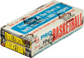 Basketball Cards:Unopened Packs/Display Boxes, Extremely Rare 1971 Topps Basketball Dual Wax Box with 24 Total Packs. ...