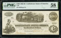 Confederate Notes:1862 Issues, T40 $100 1862 PF-1 Cr. 298 PMG Choice About Unc 58.. ...