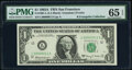 Low Serial Number 11 Fr. 1901-L $1 1963A Federal Reserve Note. PMG Gem Uncirculated 65 EPQ