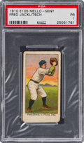 Baseball Cards:Singles (Pre-1930), 1910 E105 Mello-Mint Fred Jacklitsch PSA Poor 1 - Only One Higher! ...