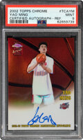 Basketball Cards:Singles (1980-Now), 2002 Topps Chrome Yao Ming Certified Autograph #TCAYM PSA ...