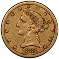 1884-CC $5 XF40 PCGS. CAC. PCGS Population: (14/103 and 0/0+). NGC Census: (13/154 and 0/0+). CDN: $1,200 Whsle. Bid for...