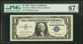 Small Size:Silver Certificates, Fr. 1619 $1 1957 Silver Certificate. PMG Superb Gem Unc 67...