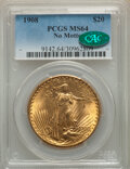 Saint-Gaudens Double Eagles, 1908 $20 No Motto MS64 PCGS. CAC. PCGS Population: (57480/39103). NGC Census: (43873/16509). CDN: $1,980 Whsle. Bid for NGC...