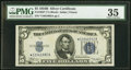 Small Size:Silver Certificates, Fr. 1652* $5 1934B Silver Certificate Star. PMG Choice Ver...