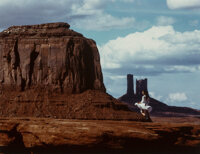 Sam Haskins (South African, 1926-2009) Woman in White, Monument Valley, 1982 Dye bleach print 11-5/8 x 14-3/4 inches