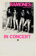 Music Memorabilia:Posters, The Ramones 1977 Rocket to Russia Tour Blank Concert Poster....