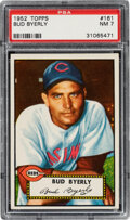 Baseball Cards:Singles (1950-1959), 1952 Topps Bud Byerly #161 PSA NM 7. Offered is a ...