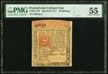 Colonial Notes:Pennsylvania, Pennsylvania March 20, 1771 20s PMG About Uncirculated 55.. ...