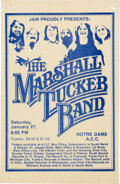 Music Memorabilia:Posters, Marshall Tucker Band 1973 South Bend, Indiana Concert Poster....