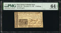 Colonial Notes:New Jersey, New Jersey December 31, 1763 3s PMG Choice Uncirculated 64...