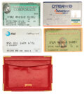 Movie/TV Memorabilia:Autographs and Signed Items, Claudette Colbert Personal Wallet and Signed Credit Cards ...