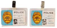 """Claude Akins """"Sheriff Lobo"""" and Mills Watson """"Deputy Perkins"""" (2) Police Staff Credentials from The..."""