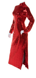"""Movie/TV Memorabilia:Costumes, Dustin Hoffman """"Dorothy Michaels"""" Signature Red Sequined Dress from Tootsie (Columbia, 1982). ..."""
