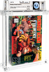 Donkey Kong Country - Wata 9.2 A Sealed [Made in Japan, First Production], SNES Nintendo 1994 USA