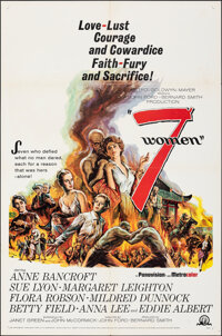 """7 Women & Other Lot (MGM, 1966). Folded, Very Fine. One Sheets (2) (27"""" X 41""""). Drama. ... (Total: 2 Items..."""