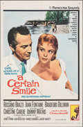 """Movie Posters:Drama, A Certain Smile & Other Lot (20th Century Fox, 1958). Folded, Overall Grade: Very Fine-. One Sheets (3) (27"""" X 41"""") & Uncut ... (Total: 4 Items)"""