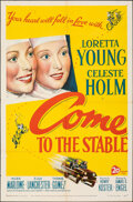 """Movie Posters:Drama, Come to the Stable & Other Lot (20th Century Fox, 1949). Folded, Overall: Fine/Very Fine. One Sheets (2) (27"""" X 41""""). Drama.... (Total: 2 Items)"""