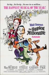 """The Happiest Millionaire & Other Lot (Buena Vista, 1967). Folded, Fine/Very Fine. One Sheets (2) (27"""" X 41""""..."""