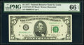 Small Size:Federal Reserve Notes, Fr. 1974-H* $5 1977 Federal Reserve Note. PMG Gem Uncircul...
