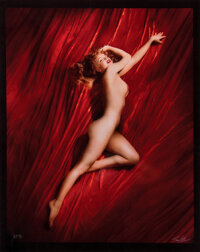 """Marilyn Monroe """"A New Wrinkle"""" Mammoth Cibachrome Photograph by Tom Kelley (1949/printed 1980s)"""