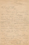 """Movie/TV Memorabilia:Autographs and Signed Items, Marilyn Monroe Extraordinary Autograph Letter Signed as """"Norma Jeane"""" to Her Friend Cathy Staub as She Takes the First Step To..."""
