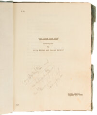 Marilyn Monroe Personal Heavily Hand-Annotated Shooting Script for The Seven Year Itch (TCF