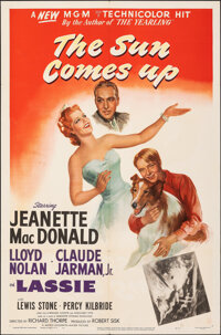 """The Sun Comes Up (MGM, 1949). Folded, Very Fine-. One Sheet (27"""" X 41""""). Drama"""