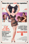 """Movie Posters:Drama, Cat on a Hot Tin Roof/Butterfield 8 Combo (MGM, R-1966). Folded, Very Fine+. One Sheet (27"""" X 41"""") Tom Jung Artwork. Drama...."""