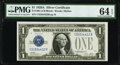 Small Size:Silver Certificates, Fr. 1601 $1 1928A Silver Certificate. PMG Choice Uncirculated 64 EPQ.. ...