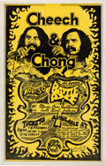Music Memorabilia:Posters, Cheech & Chong 1972 South Bend, IN Concert Poster....