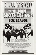 """Music Memorabilia:Posters, The Allman Brothers Band 1973 """"Hell Yeah!"""" Vancouver, B.C. Concert Poster...."""