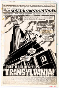 Gene Colan and Tom Palmer Tomb of Dracula #68 Splash Page 1 All-Stat Production Page (Marvel, 1979)