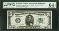 Small Size:Federal Reserve Notes, Fr. 1952-E $5 1928B Dark Green Seal Federal Reserve Note. ...