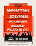 Music Memorabilia:Posters, The Manhattans, BT Express, Shalamar 1977 NYC Concert Poster....
