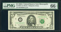 Small Size:Federal Reserve Notes, Fr. 1980- I; J $5 1988A Federal Reserve Notes. PMG Superb Gem Unc 67 EPQ; Gem Uncirculated 66 EPQ.. ... (Total: 2 notes)