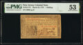 Colonial Notes:New Jersey, New Jersey March 25, 1776 1s PMG About Uncirculated 53.