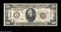 Small Size:World War II Emergency Notes, Fr. 2305* $20 1934-A Hawaii Federal Reserve Note. Fine-Very ...