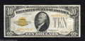 Small Size:Gold Certificates, 1928 $10 Gold Star Certificate, Fr-2400*, Very Fine-Extremely ...