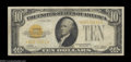 Small Size:Gold Certificates, Fr. 2400* $10 1928 Gold Certificate. Very Good-Fine.