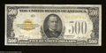 Small Size:Gold Certificates, Fr. 2407 $500 1928 Gold Certificate. Very Fine-Extremely ...
