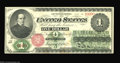 Fr. 16 $1 1862 Legal Tender About New. A beautiful early Ace, with one broad corner fold and some light brown staining...