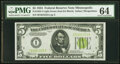 Small Size:Federal Reserve Notes, Fr. 1955-I $5 1934 Light Green Seal Federal Reserve Note. ...