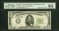 Small Size:Federal Reserve Notes, Fr. 1955-J $5 1934 Light Green Seal Federal Reserve Note. ...