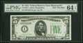 Small Size:Federal Reserve Notes, Fr. 1956-I $5 1934 Dark Green Seal Federal Reserve Note. P...