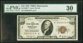 Small Size:Federal Reserve Bank Notes, Fr. 1860-I* $10 1929 Federal Reserve Bank Star Note. PMG V...
