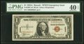 Small Size:World War II Emergency Notes, Fr. 2300 $1 1935A Hawaii Silver Certificate. A-C Block. PM...