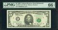 Small Size:Federal Reserve Notes, Fr. 1982-E* $5 1993 Federal Reserve Note. PMG Gem Uncircul...